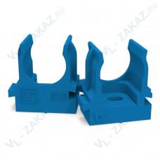 Крепеж-клипса для труб для монтажного пистолета СИНЯЯ д16 (100шт/1100шт уп/кор) Промрукав