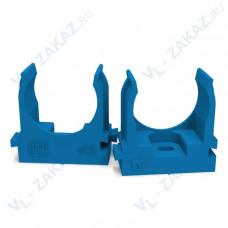 Крепеж-клипса для труб для монтажного пистолета СИНЯЯ д25 (100шт/700шт уп/кор) Промрукав
